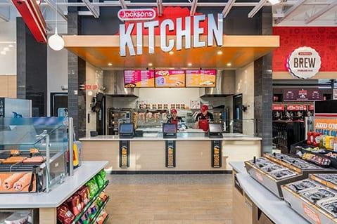 Convenience store specialty food area