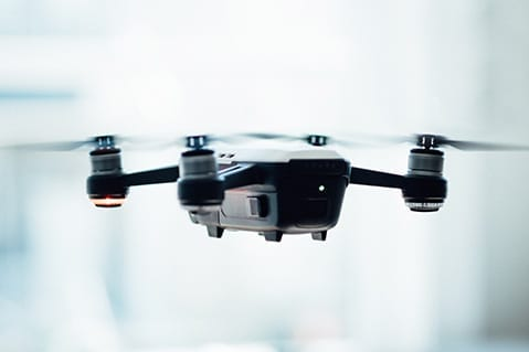 A drone used for retail design.